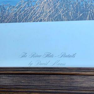 Vintage Wall Art - VTG David Maass River Flats Pintails ducks signed
